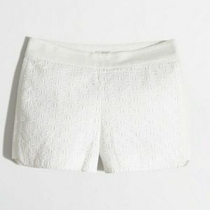 J.Crew Factory White Eyelet Shorts